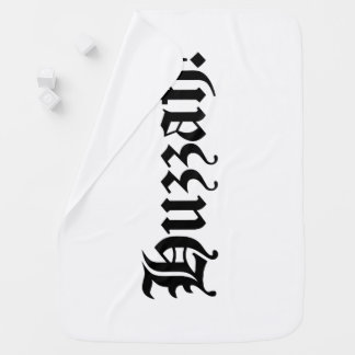 Huzzah! {Medieval Typography} Baby Blanket
