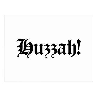 Huzzah! {Medieval Typography} Postcard