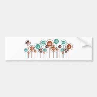 HVAC Daisies Bumper Sticker