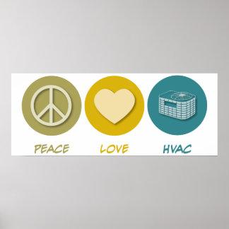 HVAC del amor de la paz Posters
