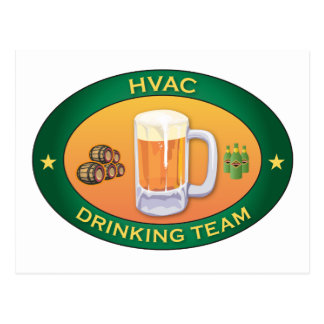 HVAC Drinking Team Postcard