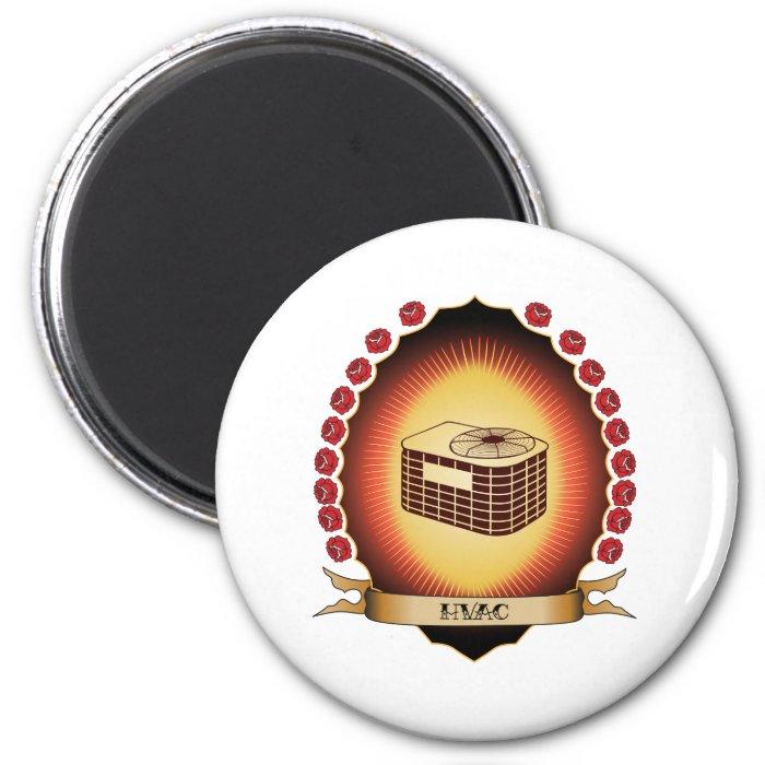 HVAC Mandorla 2 Inch Round Magnet