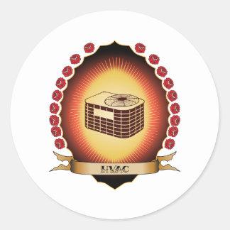 HVAC Mandorla Round Sticker
