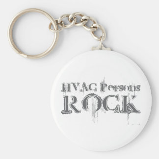 HVAC Persons Rock Keychain