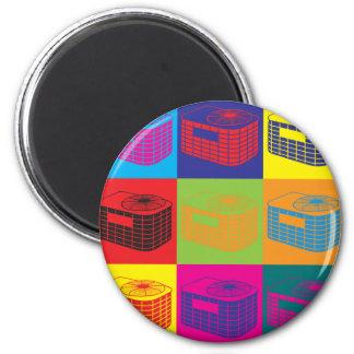 HVAC Pop Art 2 Inch Round Magnet