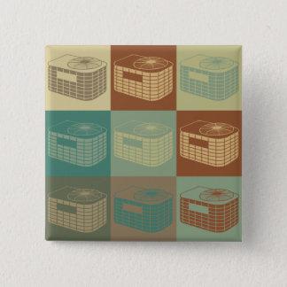 HVAC Pop Art Pinback Button