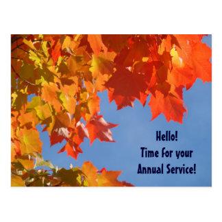 HVAC postcards Fall Annual Service custom Furnace