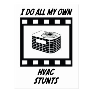 HVAC Stunts Postcard