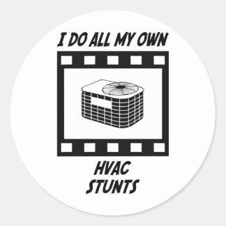 HVAC Stunts Stickers