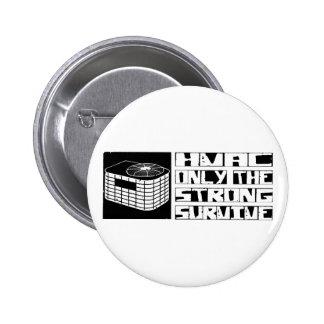 HVAC Survive Pinback Button