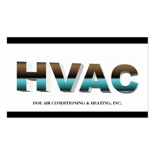 Hvac technician b w mirrored business cards zazzle for Hvac business card template