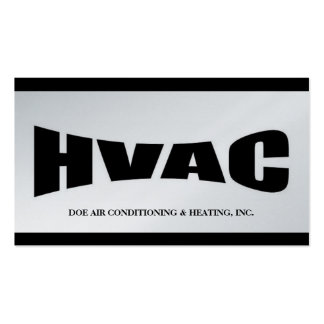 HVAC Technician Black/Platinum Double-Sided Standard Business Cards (Pack Of 100)
