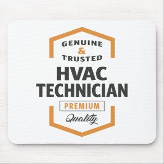 HVAC Technician Logo Gifts. Mouse Pad