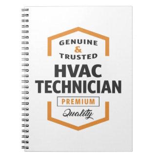 HVAC Technician Logo Gifts. Notebook