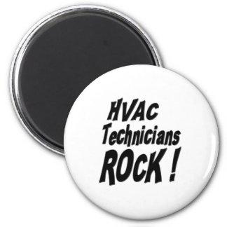 HVAC Technicians Rock! Magnet