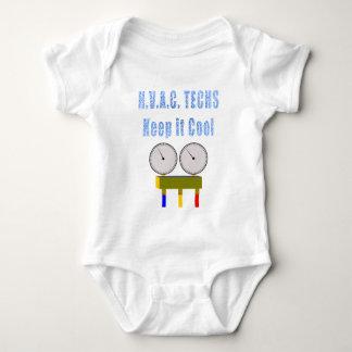 HVAC Techs Keep it Cool.png Baby Bodysuit