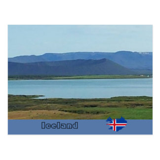 Hverfjall volcanic crater, Iceland Postcard