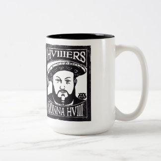 HVIIIers Gonna HVIII (Henry Tudor, Henry VIII) Two-Tone Coffee Mug