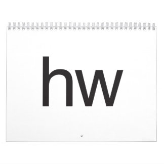 hw wall calendars
