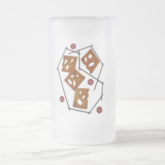 Hw Cheesey! Frosted Glass Beer Mug