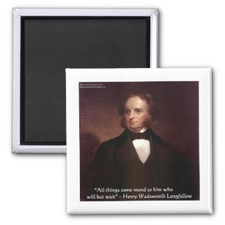 """HW Longfellow """"All Comes Around"""" Wisdom Quote Gift 2 Inch Square Magnet"""