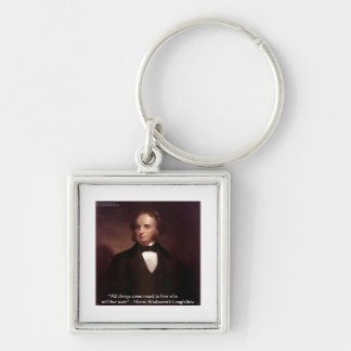 "HW Longfellow ""All Comes Around"" Wisdom Quote Gift Key Chain"