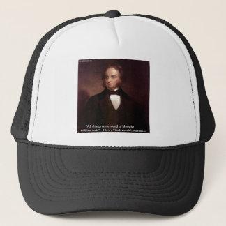 "HW Longfellow ""All Comes Around"" Wisdom Quote Gift Trucker Hat"