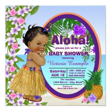 The_Baby_Boutique Hwaiian Tropical Luau Hula Baby Shower Card
