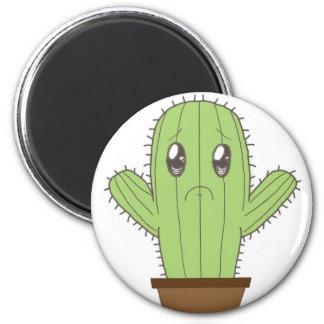 """""""Hwugs???"""" Cactus 2 Inch Round Magnet"""