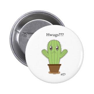 Hwugs Cactus Pinback Button