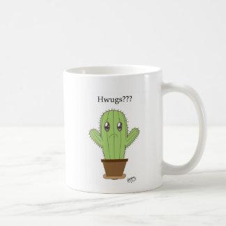"""Hwugs???"" Cactus Coffee Mugs"