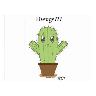"""""""Hwugs???"""" Cactus Postal"""