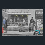 """HWY 51 Silver 2 Kitchen Towel<br><div class=""""desc"""">&#169; 2013 CHRIS CONSANI 