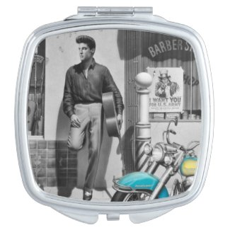 HWY 51 Silver Compact Mirror