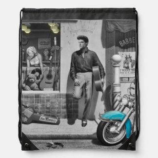 HWY 51 Silver Drawstring Backpack