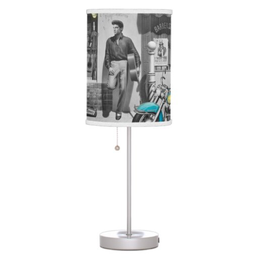 Zazzle HWY 51 Silver Table Lamp