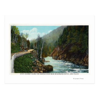 Hwy View of Ausable River near Wilmington Postcard
