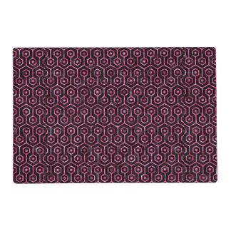 HXG1 BK-PK MARBLE PLACEMAT