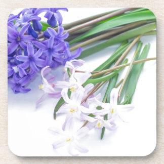 Hyacinth and chionodoxa beverage coasters