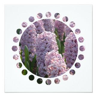 "Hyacinth Bulbs Invitation 5.25"" Square Invitation Card"
