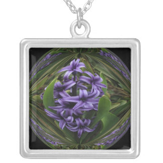 Hyacinth Candy Square Pendant Necklace