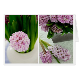 Hyacinth Diptych Card