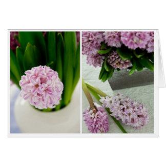Hyacinth Diptych Card