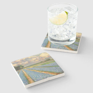 Hyacinth Flowers Triptych image 3 of 3 Stone Coaster