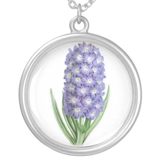 Hyacinth, Lord Palmerston Round Pendant Necklace