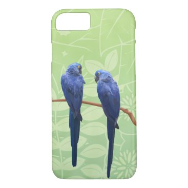 Beach Themed Hyacinth Macaw Duo Phone Case
