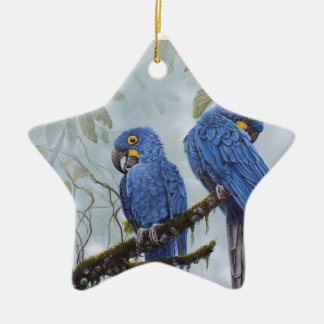 Hyacinth Macaw just for your special gifts Ceramic Ornament
