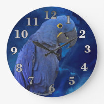 Hyacinth Macaw Large Clock
