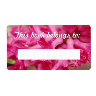 Hyacinth Pink Book Label
