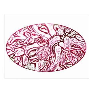 Hyacinth Pink Edited Postcard